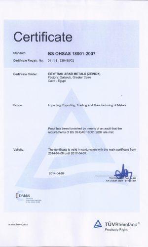 OHSAS 18001 TUV